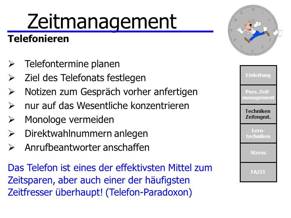 Zeitmanagement Telefonieren Telefontermine planen