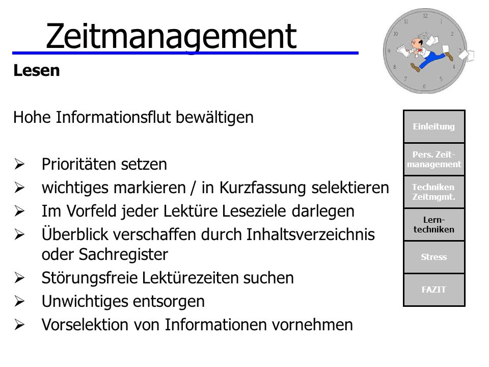 Zeitmanagement Lesen Hohe Informationsflut bewältigen