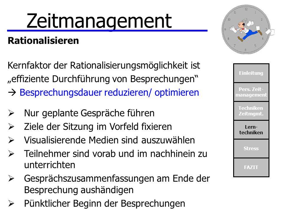 Zeitmanagement Rationalisieren