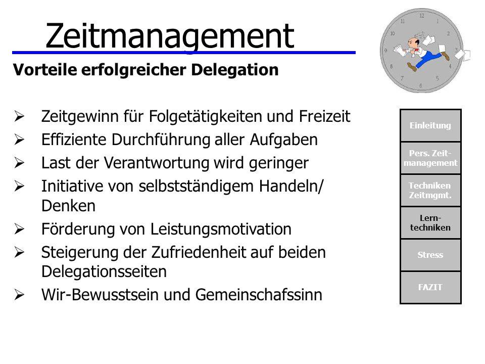 Zeitmanagement Vorteile erfolgreicher Delegation