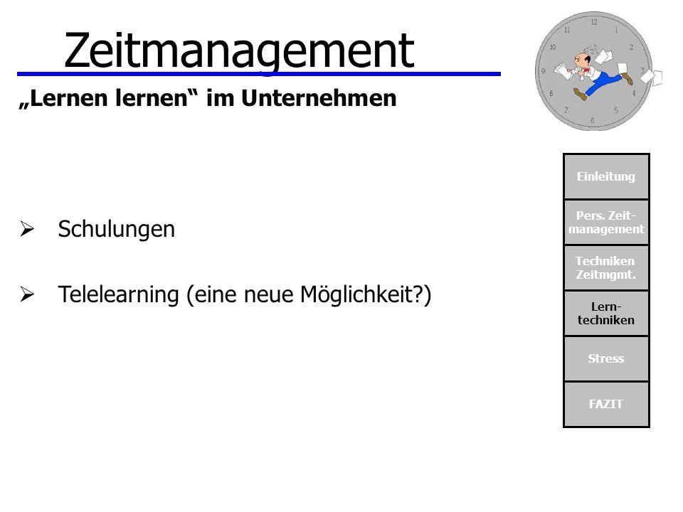 """Zeitmanagement """"Lernen lernen im Unternehmen Schulungen"""
