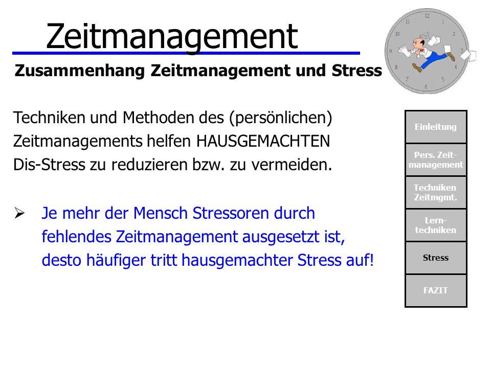 Zusammenhang Zeitmanagement und Stress