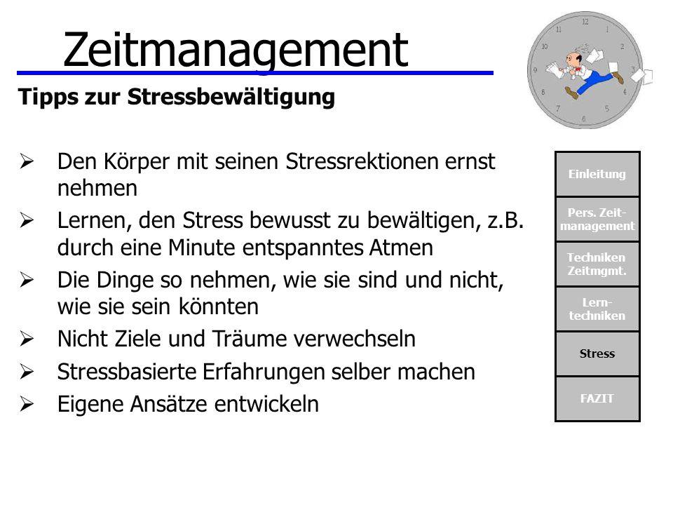 Zeitmanagement Tipps zur Stressbewältigung