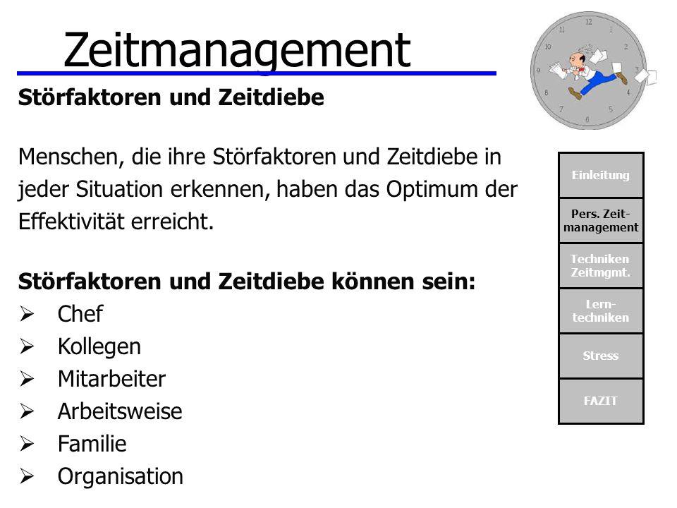 Zeitmanagement Störfaktoren und Zeitdiebe