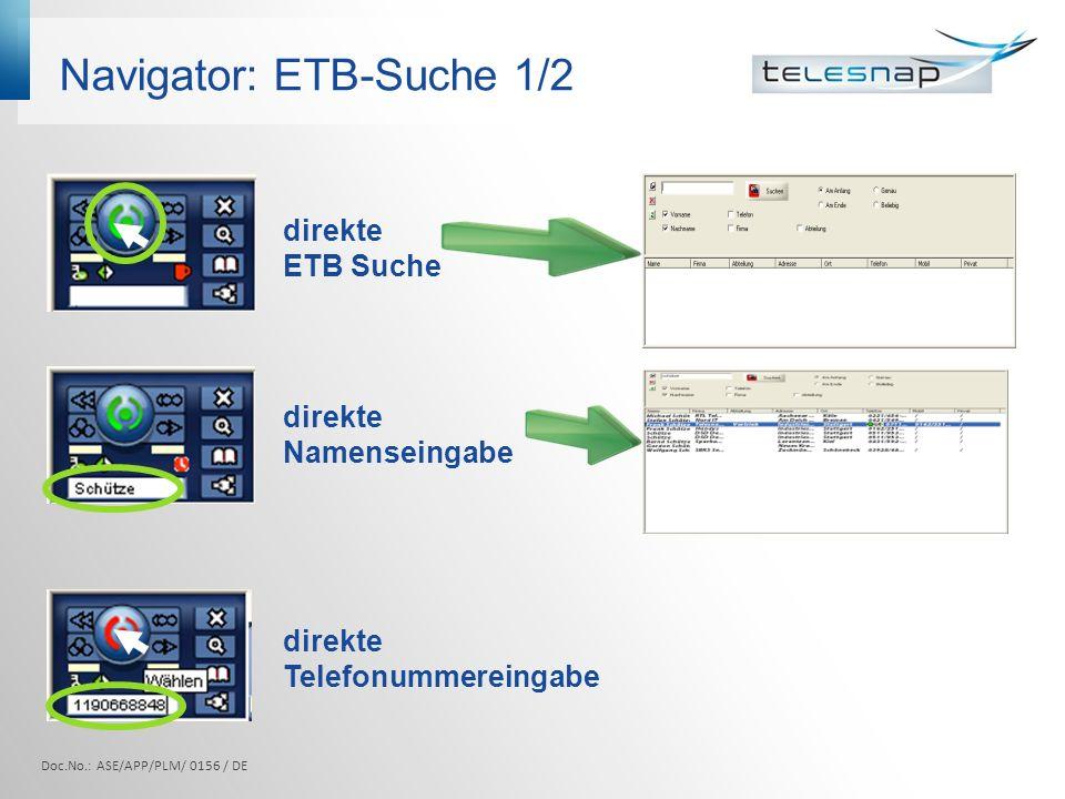 Navigator: ETB-Suche 1/2