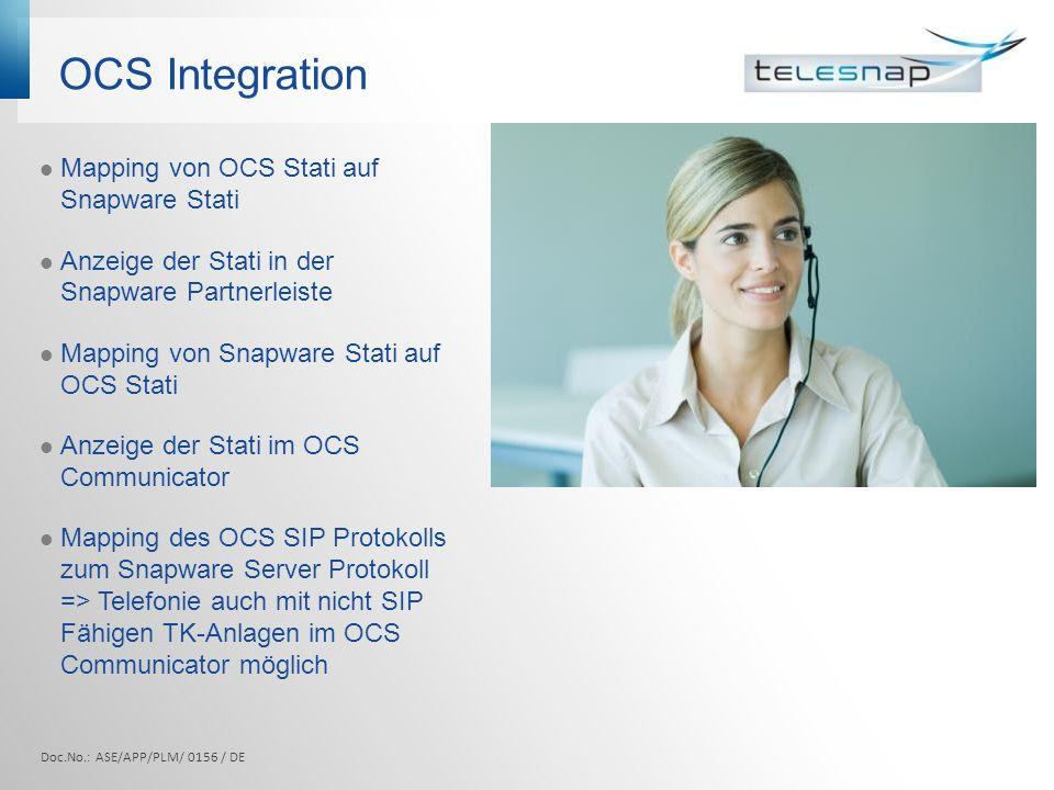 OCS Integration Mapping von OCS Stati auf Snapware Stati