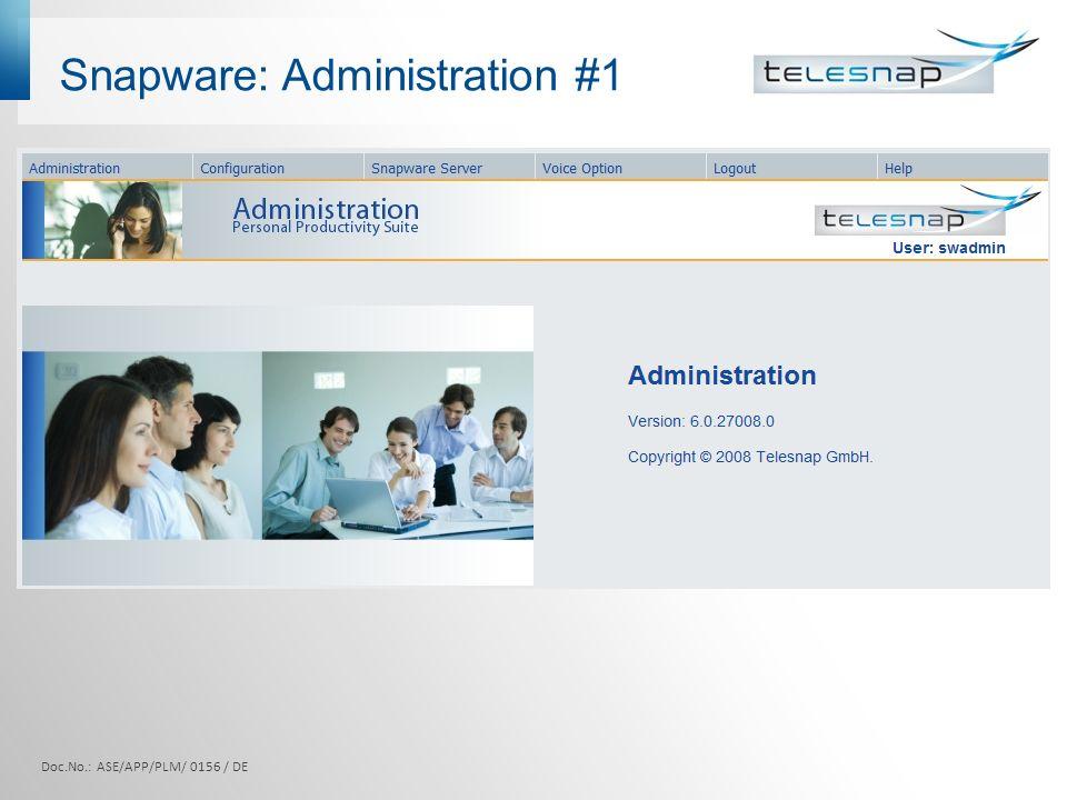 Snapware: Administration #1