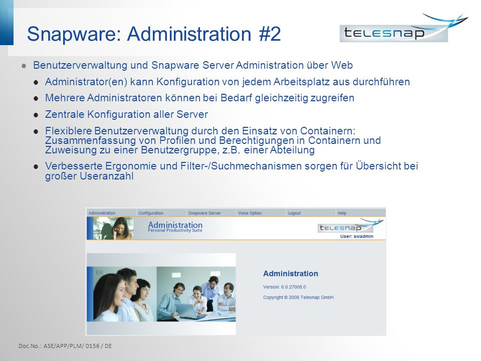 Snapware: Administration #2