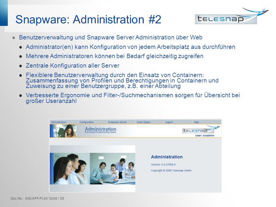 Snapware: Administration #2