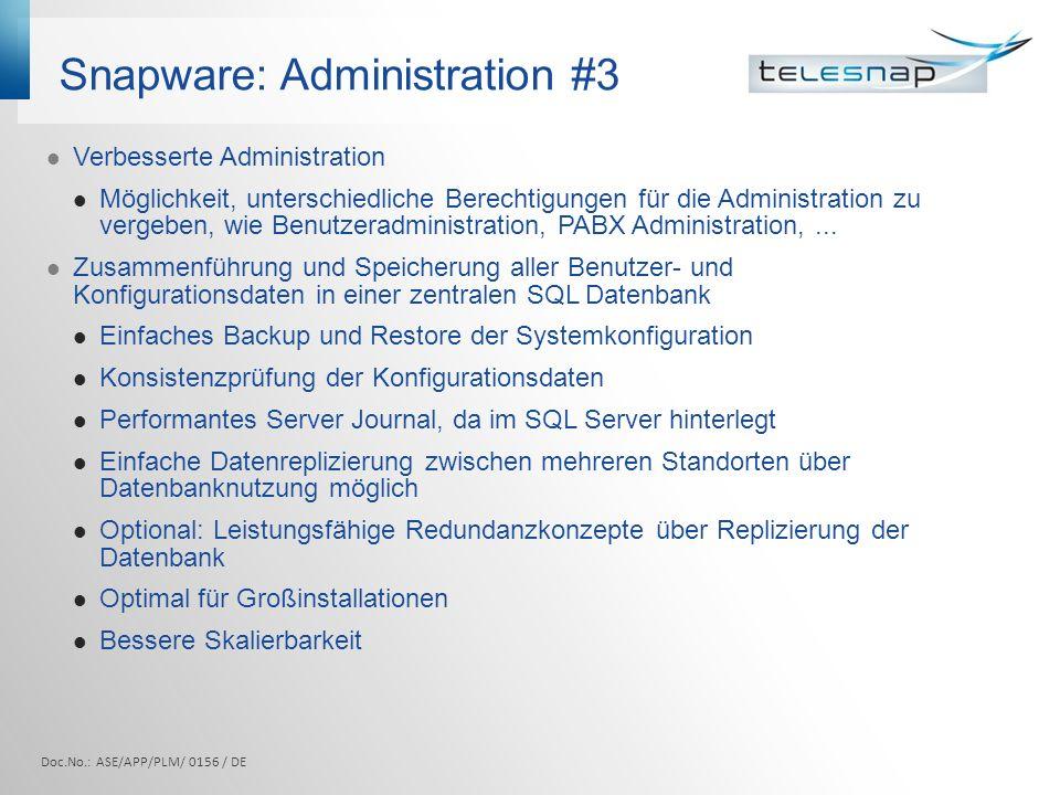 Snapware: Administration #3