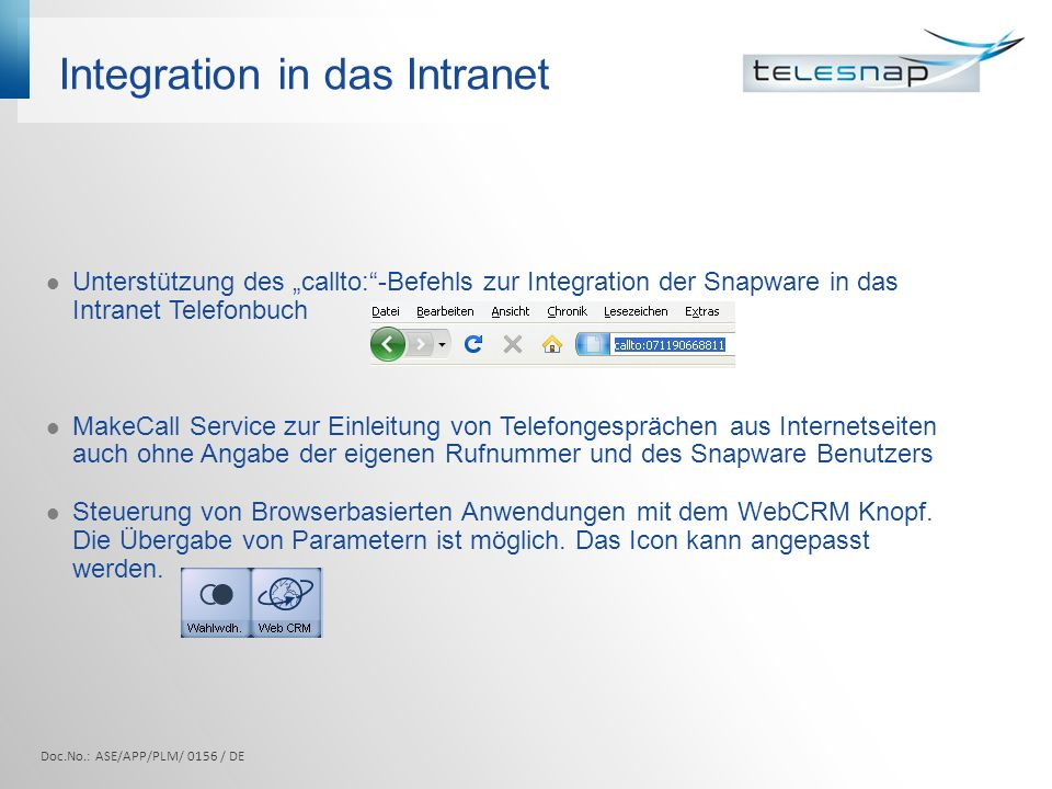Integration in das Intranet
