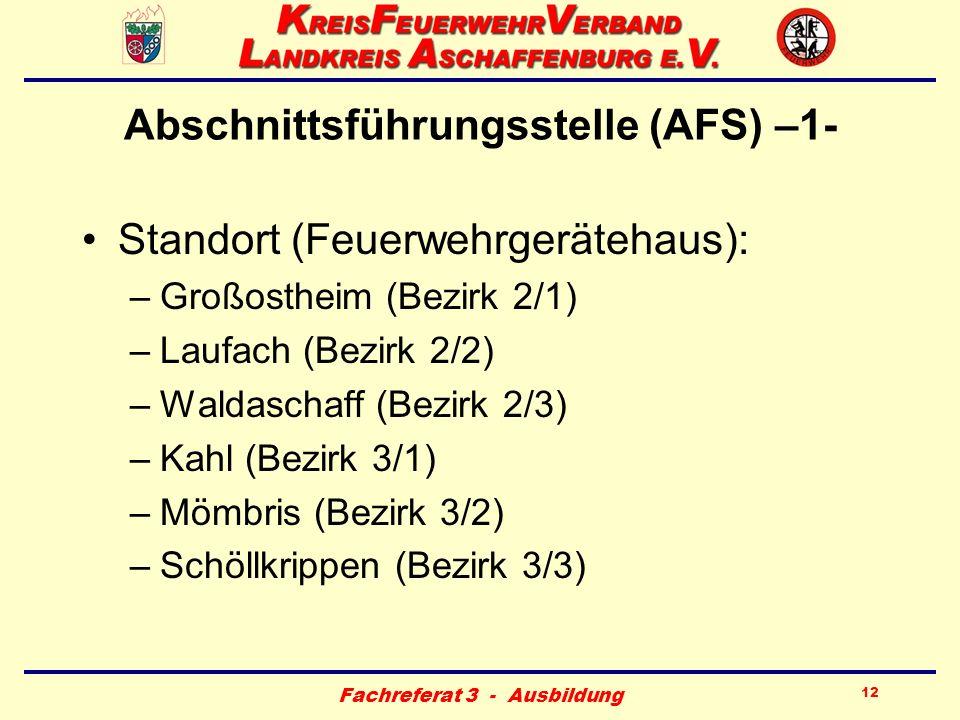Abschnittsführungsstelle (AFS) –1-