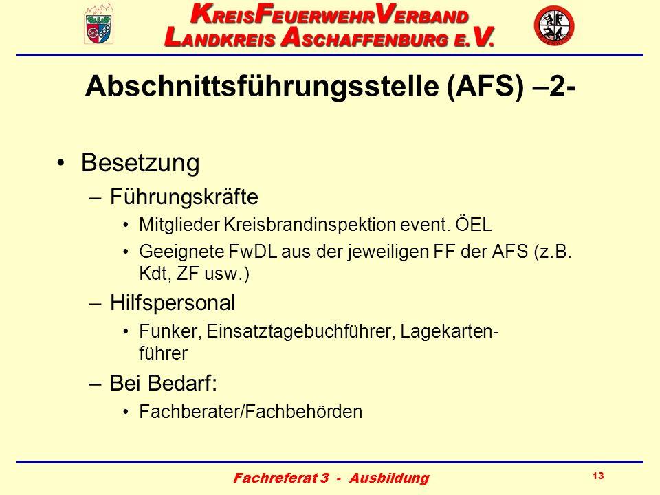 Abschnittsführungsstelle (AFS) –2-