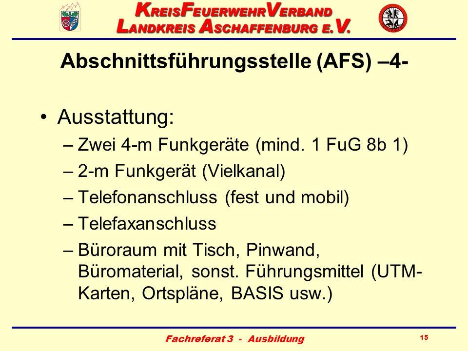 Abschnittsführungsstelle (AFS) –4-
