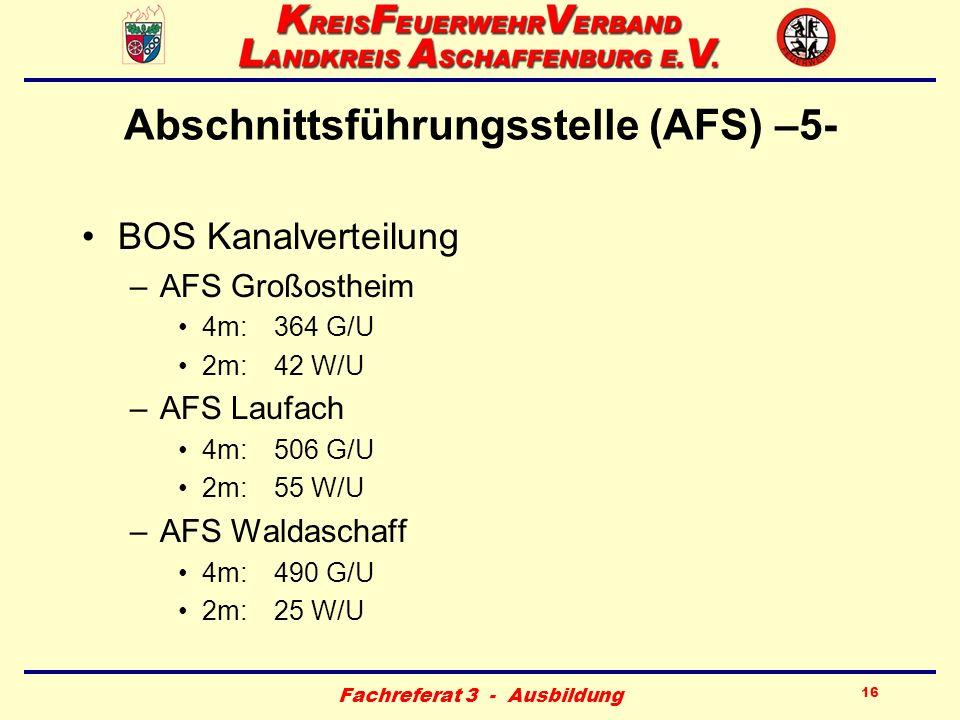 Abschnittsführungsstelle (AFS) –5-