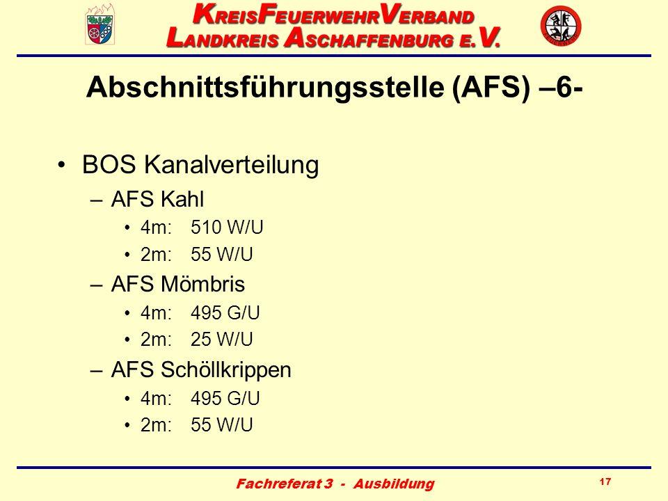 Abschnittsführungsstelle (AFS) –6-