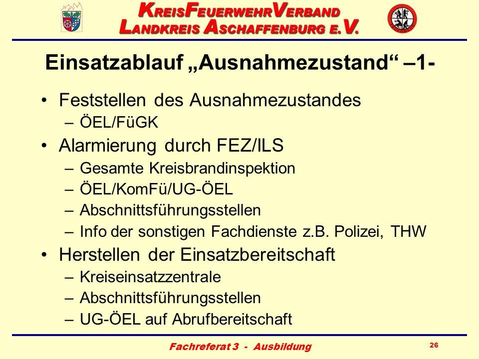 """Einsatzablauf """"Ausnahmezustand –1-"""