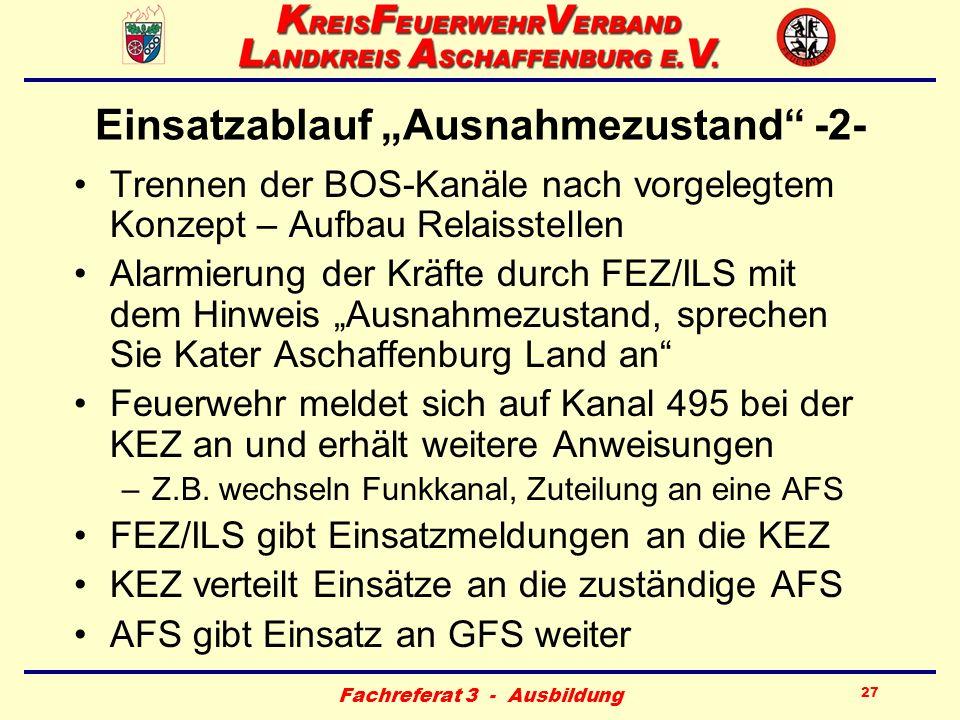 """Einsatzablauf """"Ausnahmezustand -2-"""