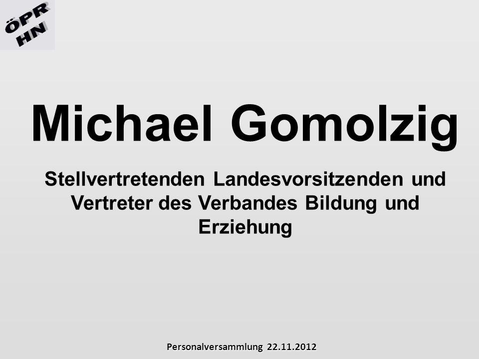 Michael Gomolzig Stellvertretenden Landesvorsitzenden und Vertreter des Verbandes Bildung und Erziehung.