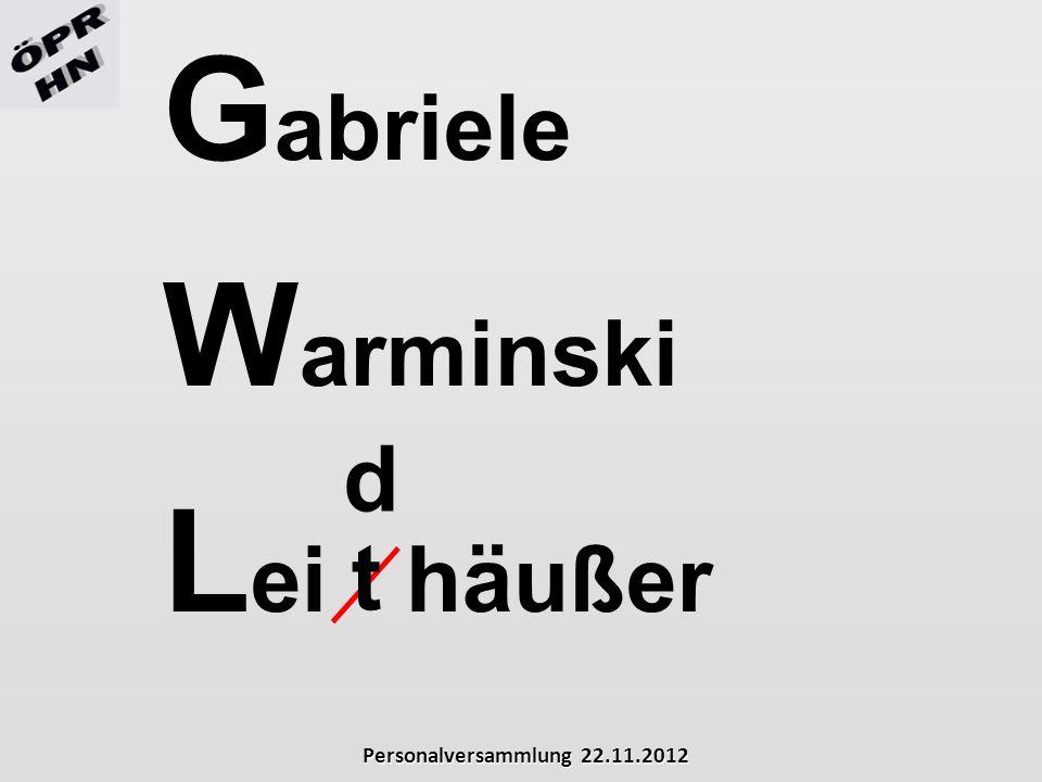 Gabriele Warminski Lei häußer d t