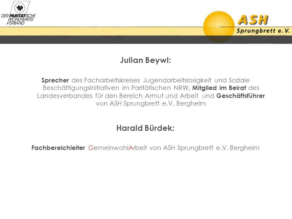 Fachbereichleiter GemeinwohlArbeit von ASH Sprungbrett e.V. Bergheim