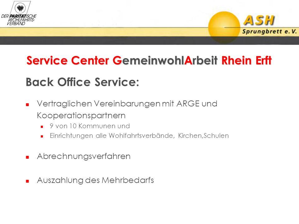 Service Center GemeinwohlArbeit Rhein Erft