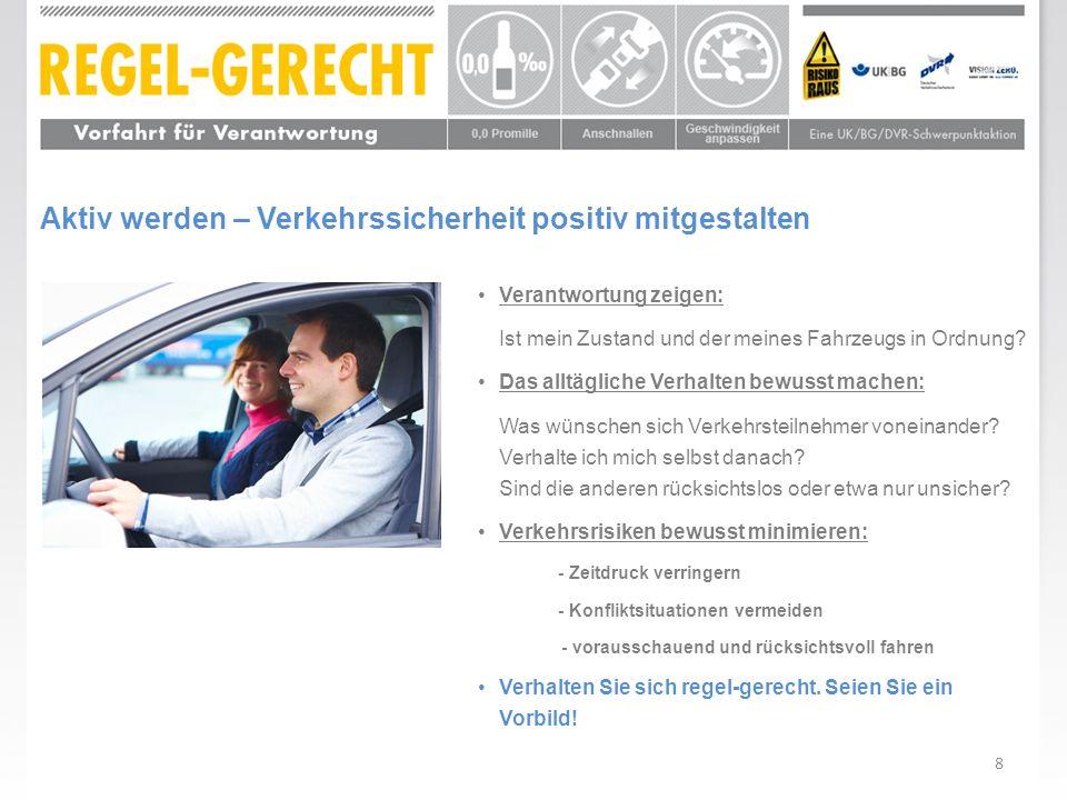 Aktiv werden – Verkehrssicherheit positiv mitgestalten