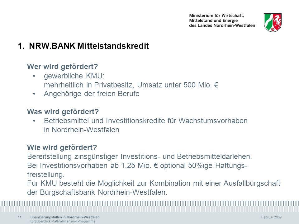 NRW.BANK Mittelstandskredit Wer wird gefördert