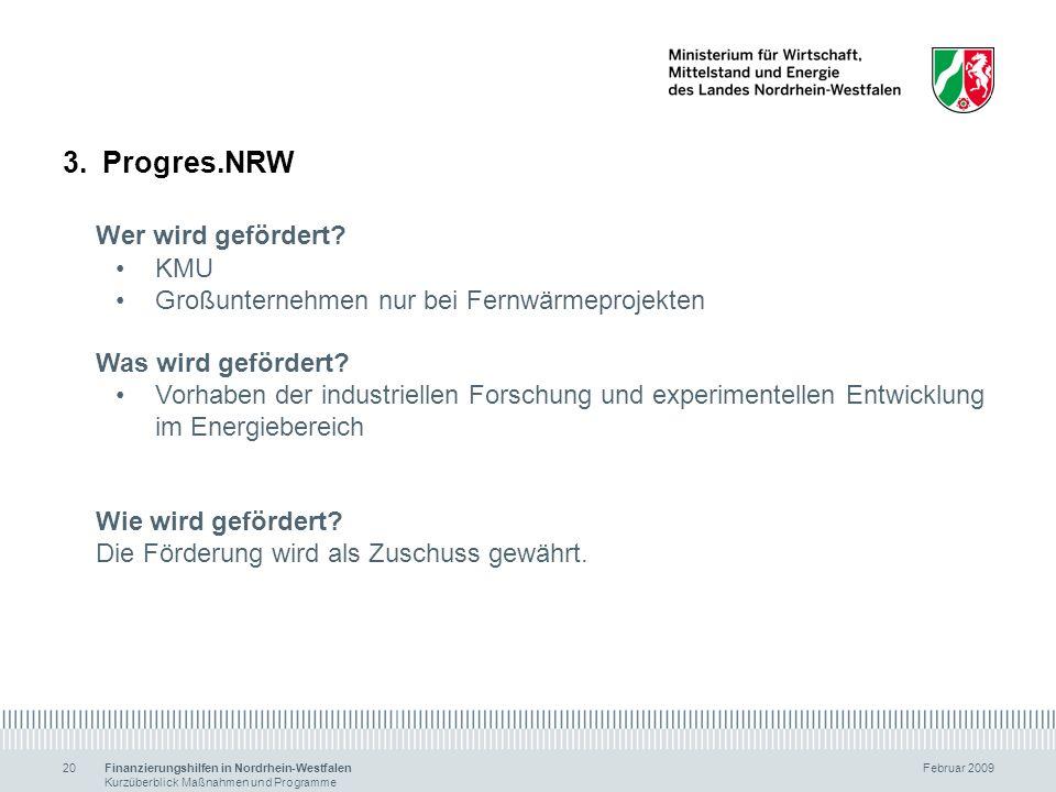 Progres.NRW Wer wird gefördert KMU