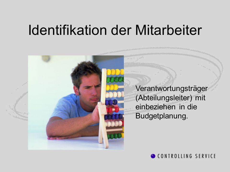 Identifikation der Mitarbeiter