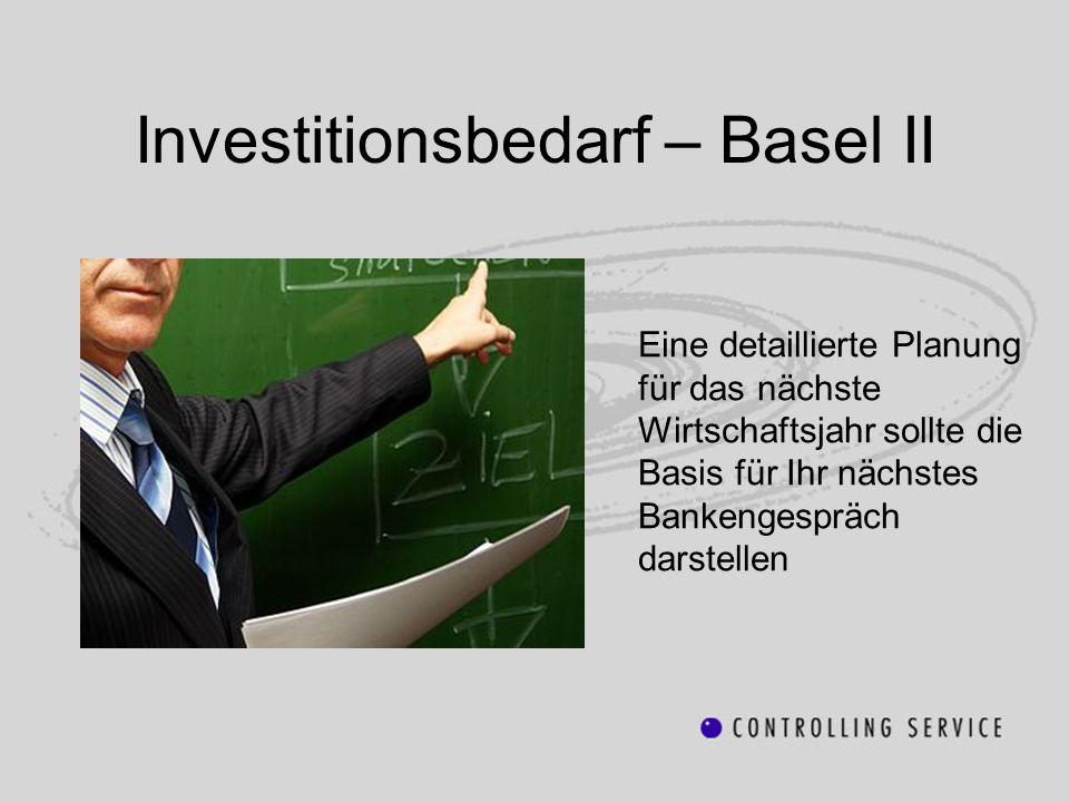 Investitionsbedarf – Basel II