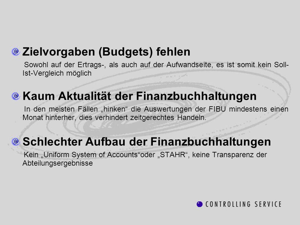 Zielvorgaben (Budgets) fehlen