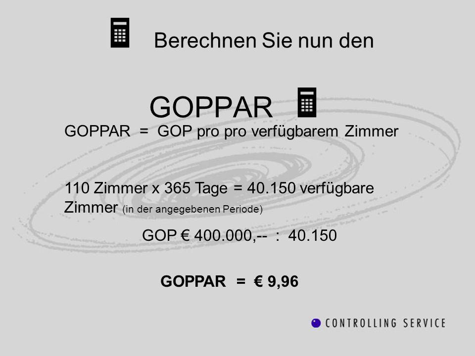  Berechnen Sie nun den GOPPAR 