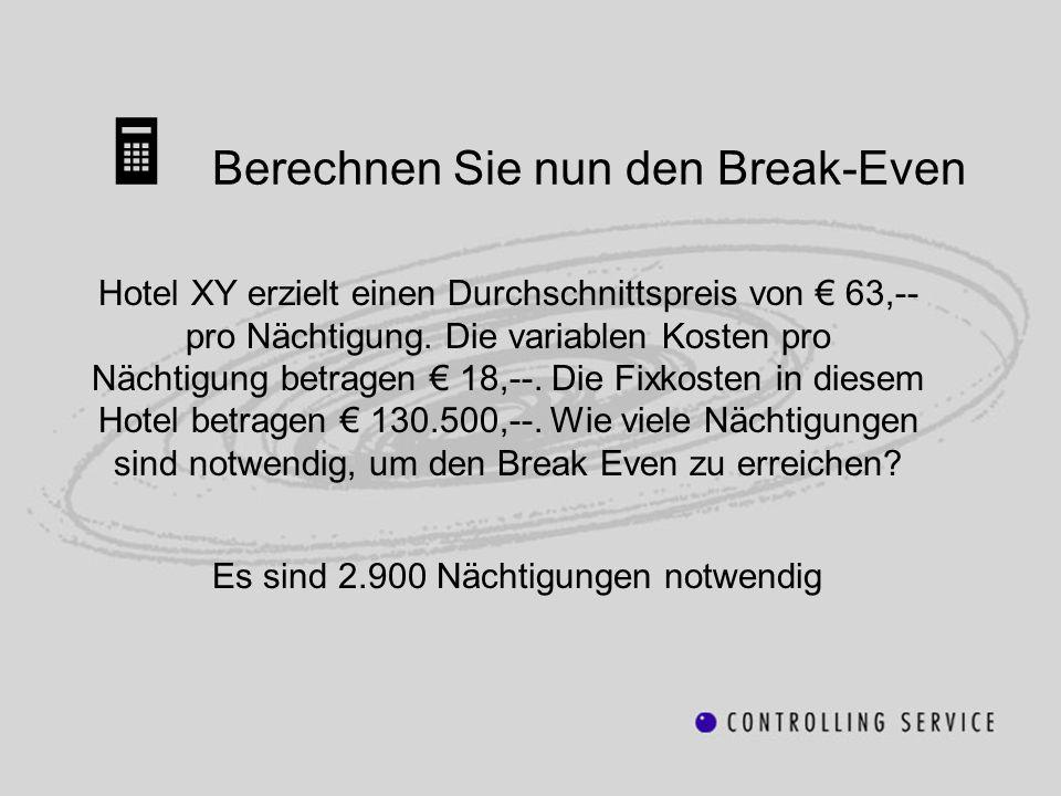  Berechnen Sie nun den Break-Even