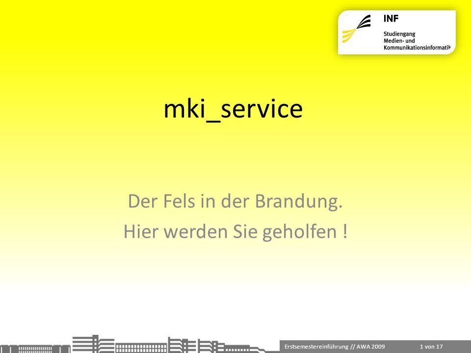 mki_service Der Fels in der Brandung. Hier werden Sie geholfen !