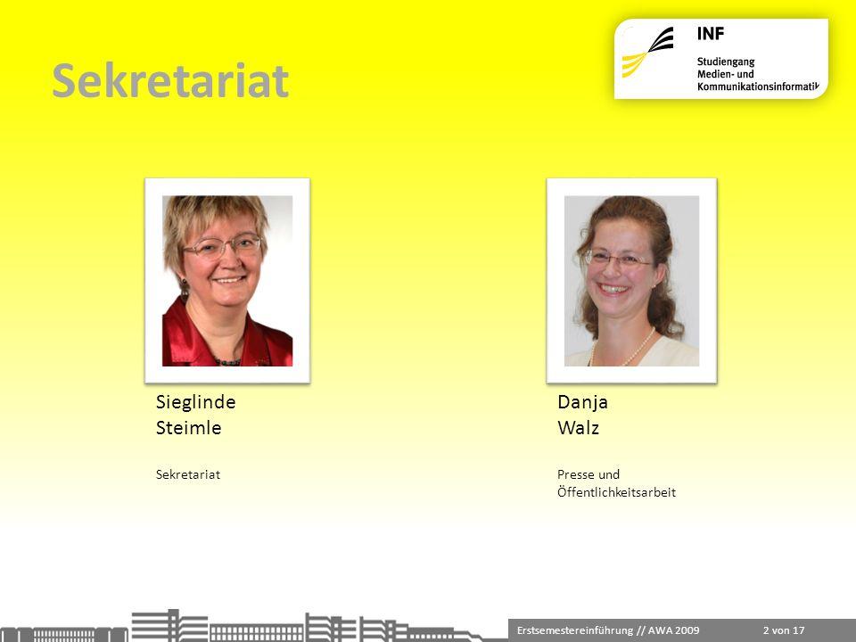 Sekretariat Sieglinde Steimle Danja Walz Sekretariat