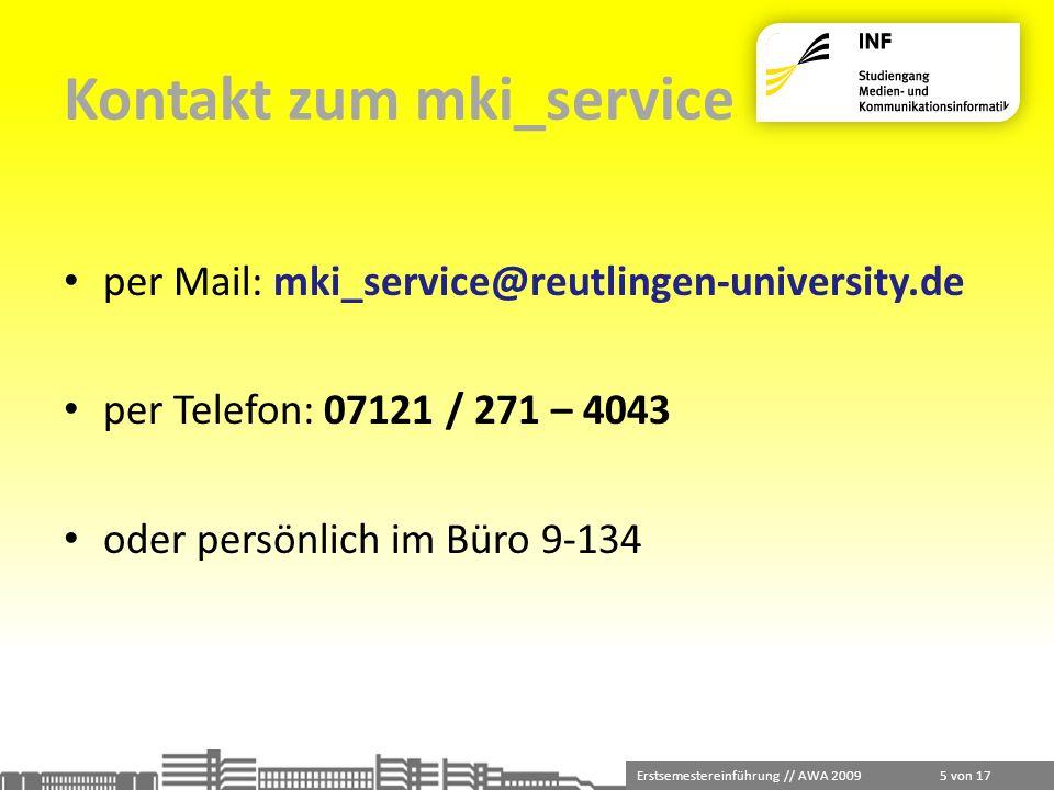 Kontakt zum mki_service