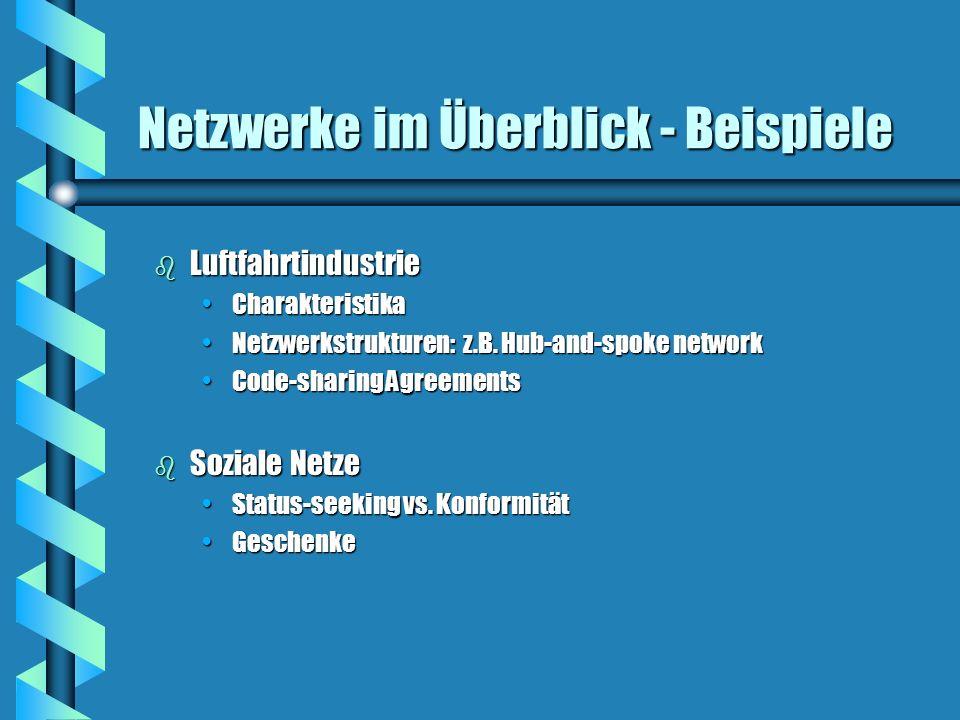 Netzwerke im Überblick - Beispiele