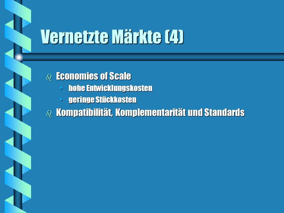Vernetzte Märkte (4) Economies of Scale