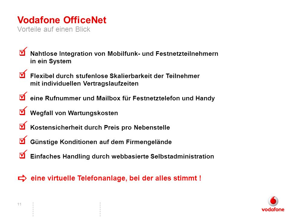 P P P P P P P a Vodafone OfficeNet Vorteile auf einen Blick
