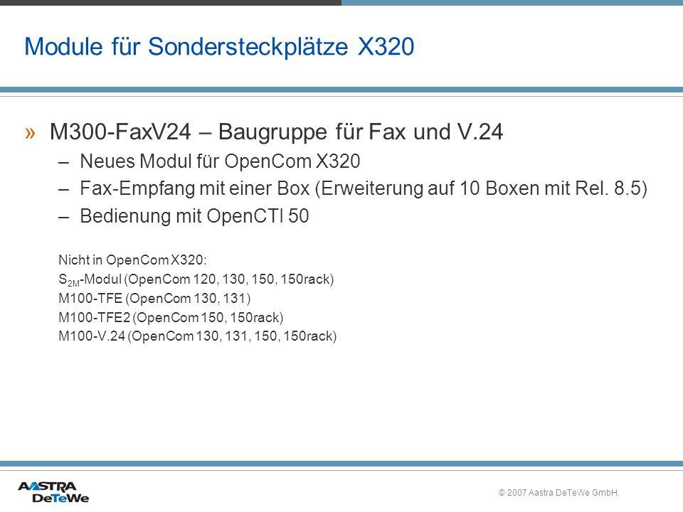 Module für Sondersteckplätze X320