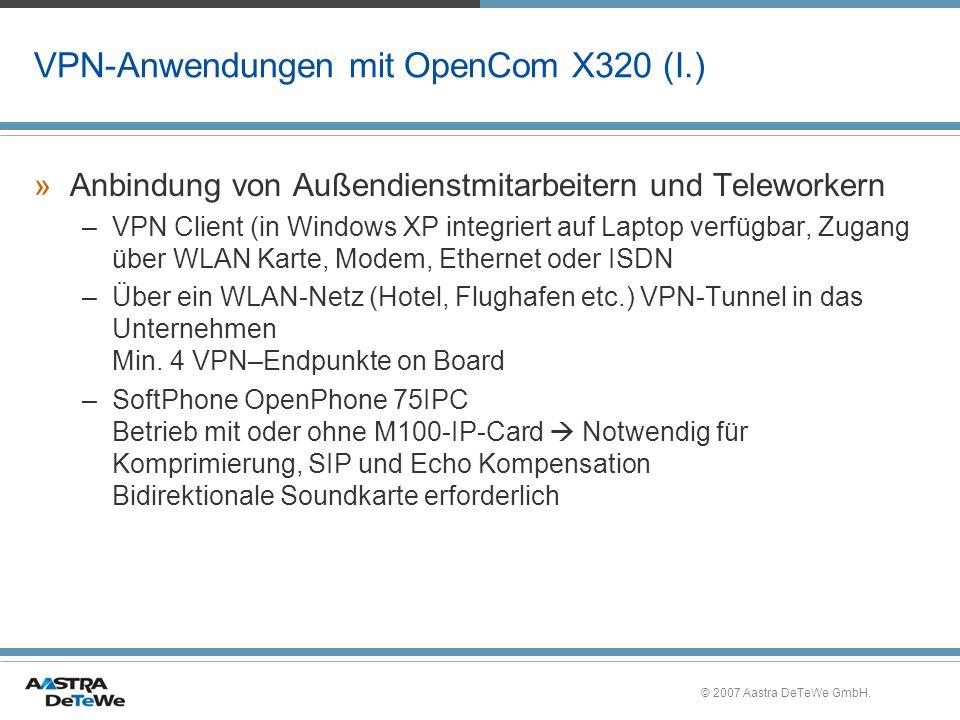 VPN-Anwendungen mit OpenCom X320 (I.)