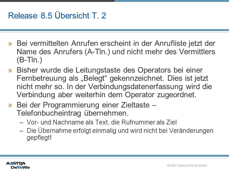 Release 8.5 Übersicht T. 2
