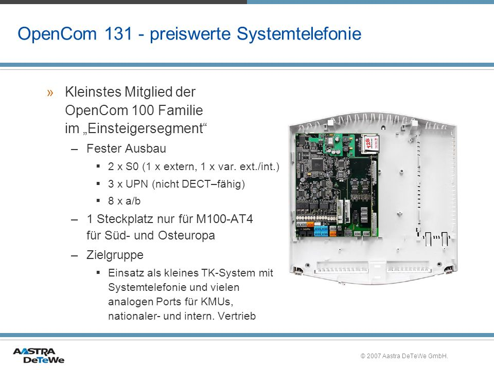 OpenCom 131 - preiswerte Systemtelefonie