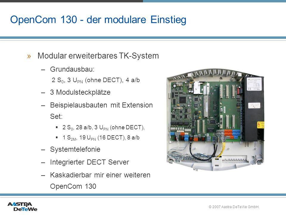 OpenCom 130 - der modulare Einstieg