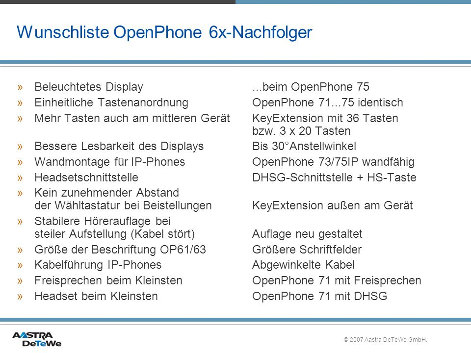 Wunschliste OpenPhone 6x-Nachfolger