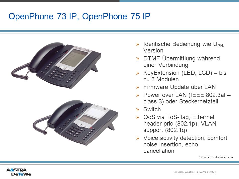 OpenPhone 73 IP, OpenPhone 75 IP