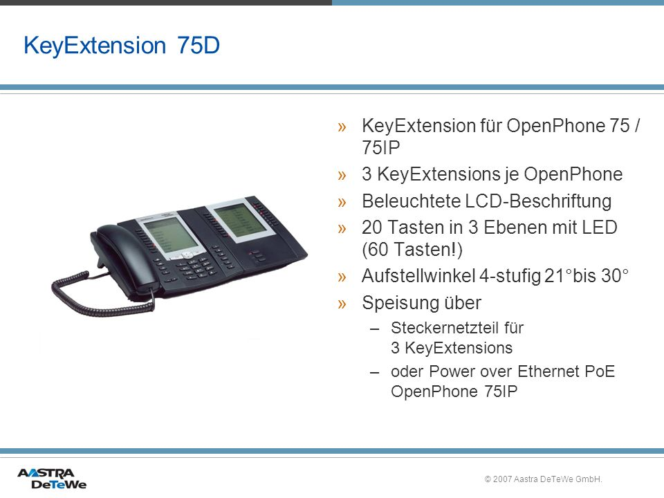 KeyExtension 75D KeyExtension für OpenPhone 75 / 75IP