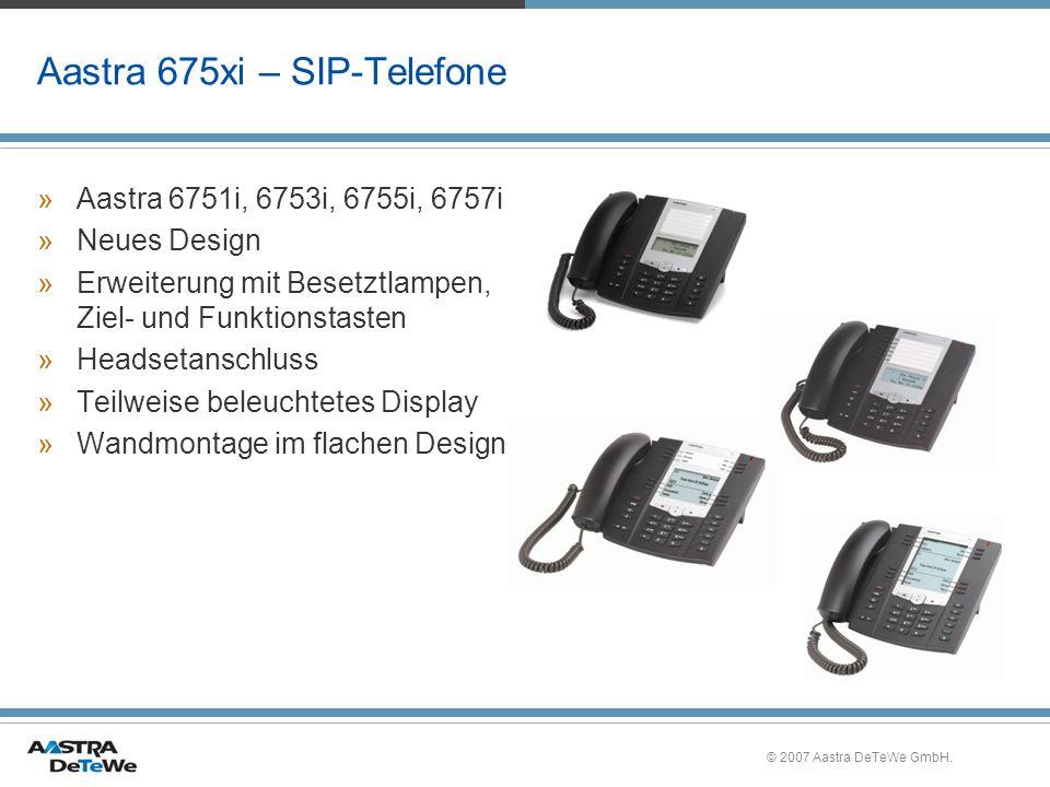 Aastra 675xi – SIP-Telefone