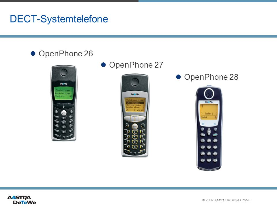 DECT-Systemtelefone OpenPhone 26 OpenPhone 27 OpenPhone 28